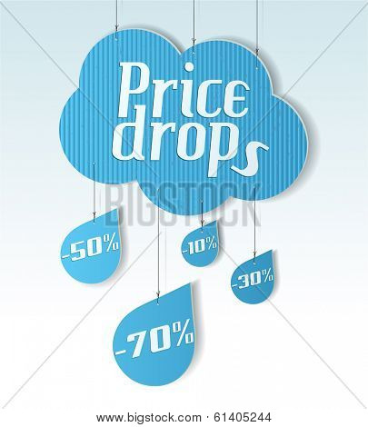 Cloud shaped badge, tag, banner, label and bookmark with space for text. Vector illustration