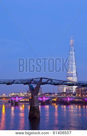 The Shard And The Millennium Bridge