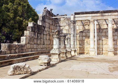Capernaum Synagogue On The Sea Of Galilee, Capernaum, Israel