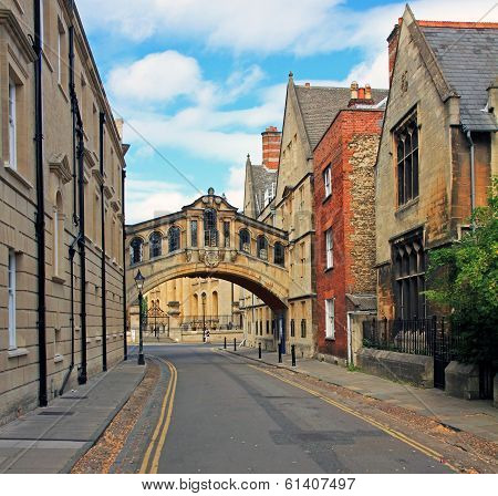 The Characteristic Bridge Of Sighs And Surrounding Houses, Oxford