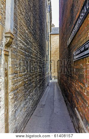 The Extremely Narrow St Helen's Passage, Oxford, England