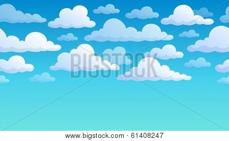 Cloudy sky background 7 - eps10 vector illustration.