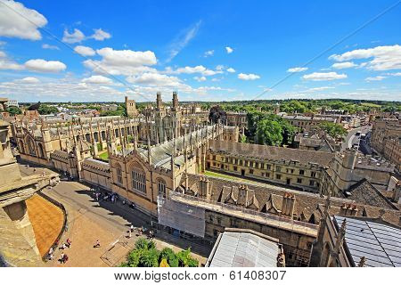 Aerial View Of Oxford, England