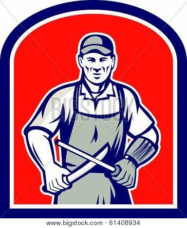 Butcher Sharpening Knife Shield