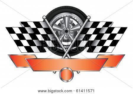 Racing Design With Wheel