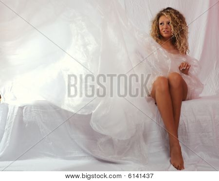 Girl  In A White Transparent Dress