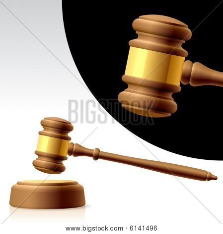 Gavel. Vector illustration.