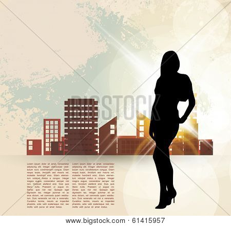 Attractive young woman. Vector