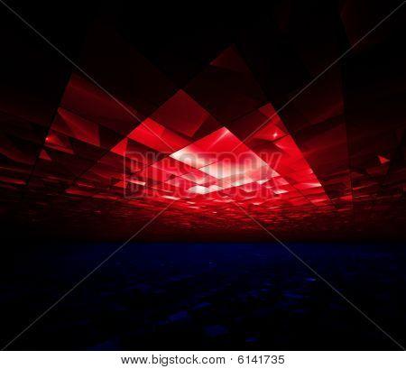 Dansen op de 4e - fractal illustratie