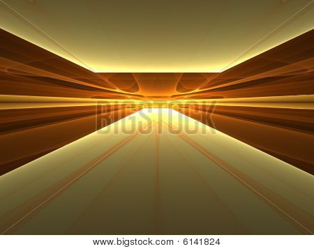 Golden Enlightenment - 3D fractal landscape