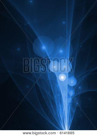 Blue Bubbles Explosion - fractal design