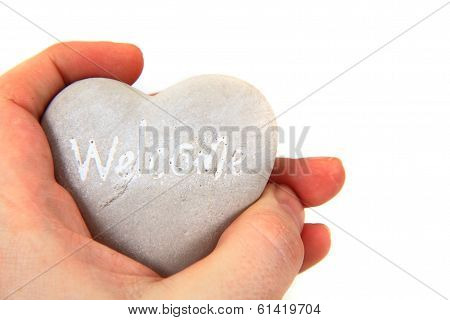Heart With Word Welcome Ni Human Hands