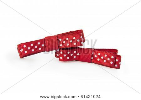 Two Red Barrette Dots