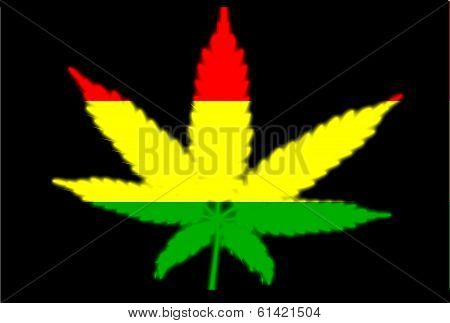Rasta Leaf Flag Cutaway