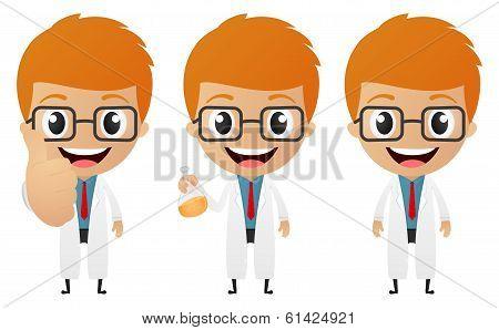 funny scientist cartoon