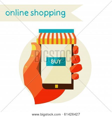 online shopping. Sale. Flat design modern illustration.