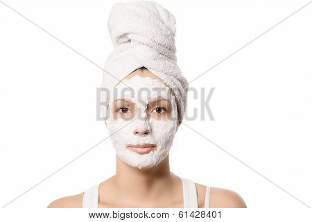 Serious Woman In A Face Mask