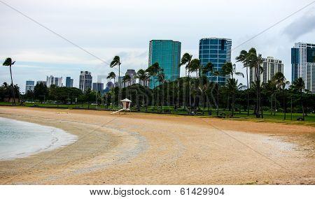 Ala Moana Park, Oahu, Hawaii.
