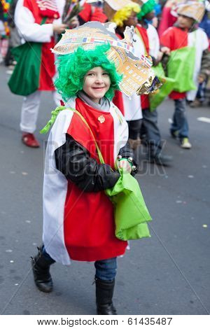 Laughing Child In Carnival Parade