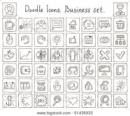 Doodle Icons. Business Set