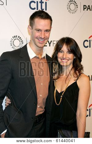 LOS ANGELES - MAR 13:  Jason Dohring , wife at the PaleyFEST Vernoica Mars Event at Dolby Theater on March 13, 2014 in Los Angeles, CA