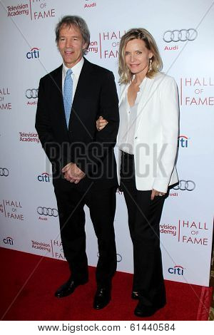 LOS ANGELES - MAR 11:  David E Kelley, Michelle Pfeiffer at the Television Academy's 23rd Hall Of Fame Induction Gala at Beverly Wilshire Hotel on March 11, 2014 in Beverly Hills, CA
