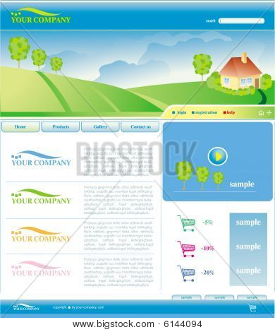 Vector Template of Website