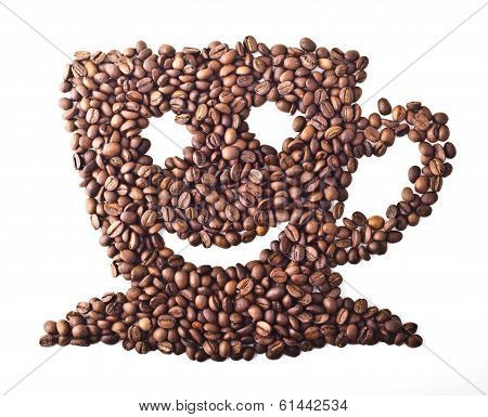 Coffee Cup with face and smile