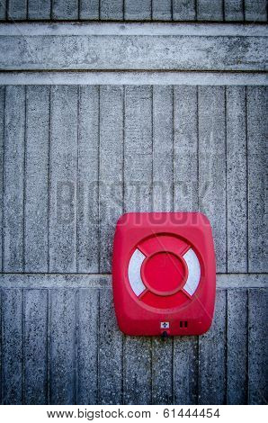 Grungy Red Life Preserver