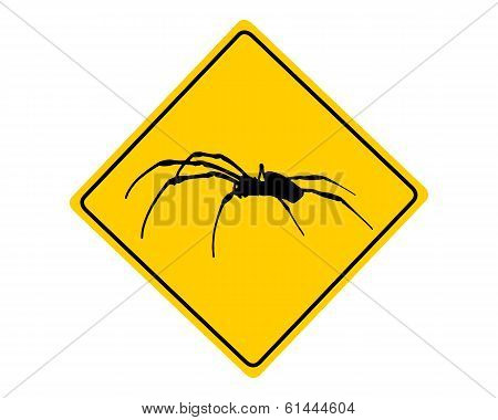 Spider Warning Sign