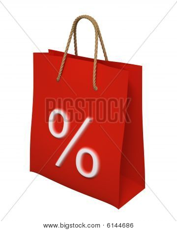 Shopping Bag With Percent Mark