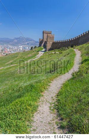 Ruins of The Genoa Fortress in Sudak,