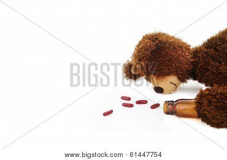 bear taking tablets