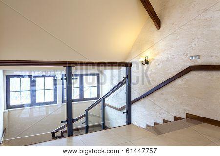 Second Floor Of Modern Building