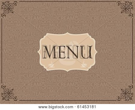 coffee menu pattern