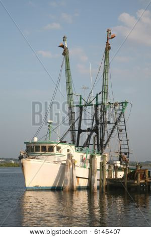 Commercial Fishing Boat At Dock