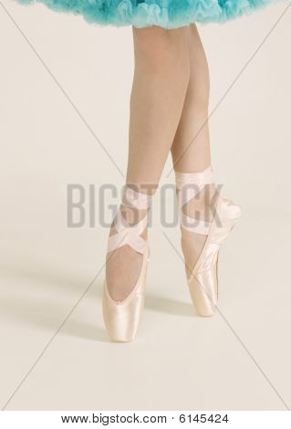 Ballerina Standing On The Pointes