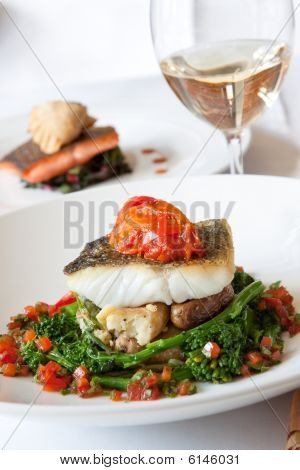 Atlantic Cod Served With White Wine