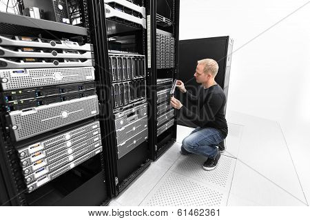 It consultant working with SAN in datacenter