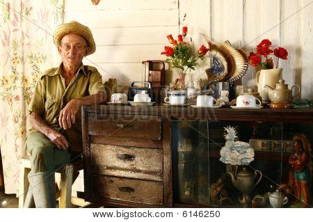 In The Home Of Tobacco Farmer. Vinales, Cuba