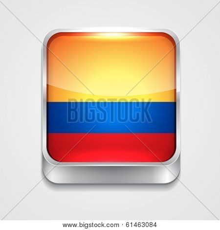 vector 3d style flag icon of Columbia