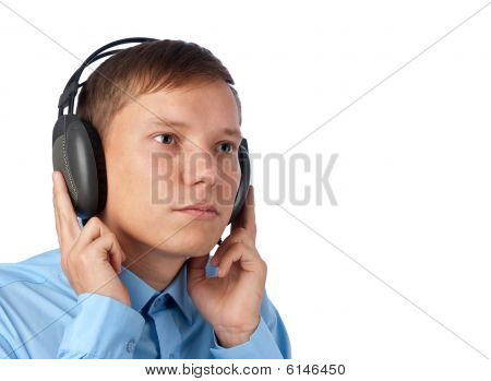 Young Man Enjoying His Music