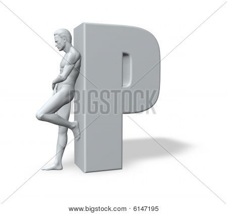 Man Leans On P