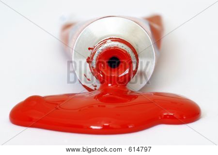Red Acrylic Paint