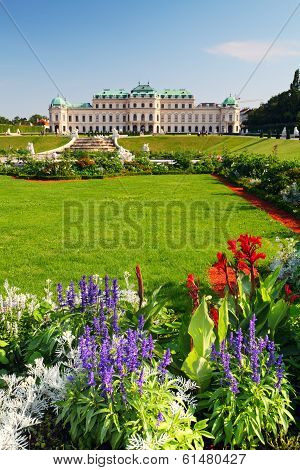 VIENNA, AUSTRIA - JULY 3: Belvedere palace on July 3, 2012 in Vienna, Austria. The Baroque palace co