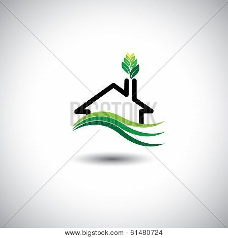 Eco Home Concept Vector Icon