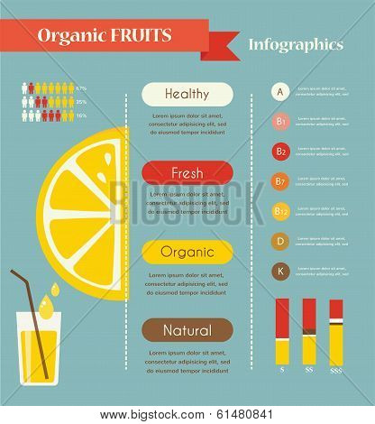 Lemon and organic infographics.