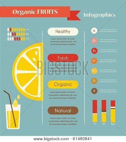 Lemon and organic infographics.