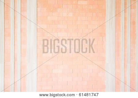 Brick And Wood Design Background