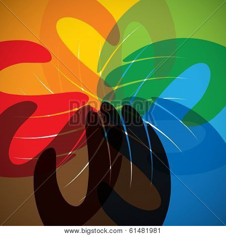 Concept Vector Icon Of Partnership, Friendship, Teamwork